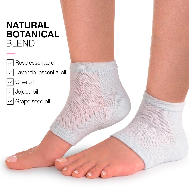 Cracked Heels Moisturizing Gel Socks + Bonus Gift – Softening Essential Oil Infused Sleeves for Women & Men| Soothing Spa Vented Rough Skin Treatment for Dry Feet | Moisturizer Repair - by CareMe+ by CareMe+ (Image #6)