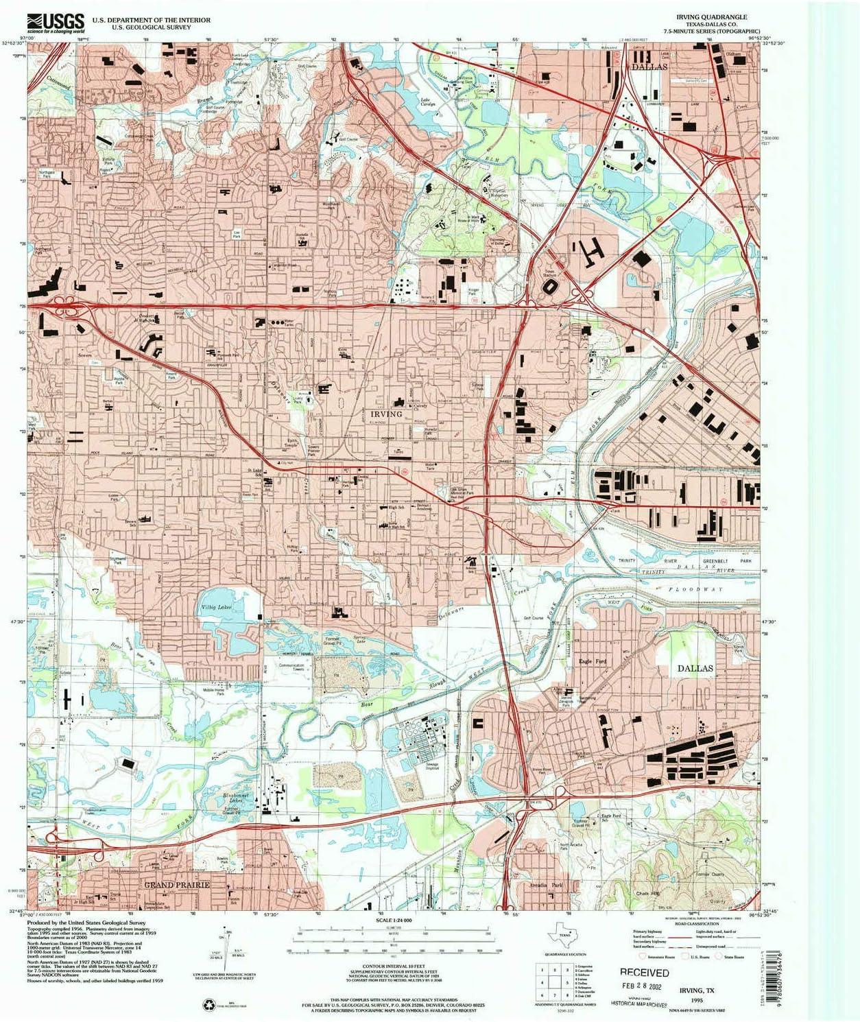 Amazon Com Yellowmaps Irving Tx Topo Map 1 24000 Scale 7 5 X