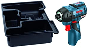 Bosch PS42BN 12 V Max Ec Brushless Impact Driver with Exact-Fit Insert Tray