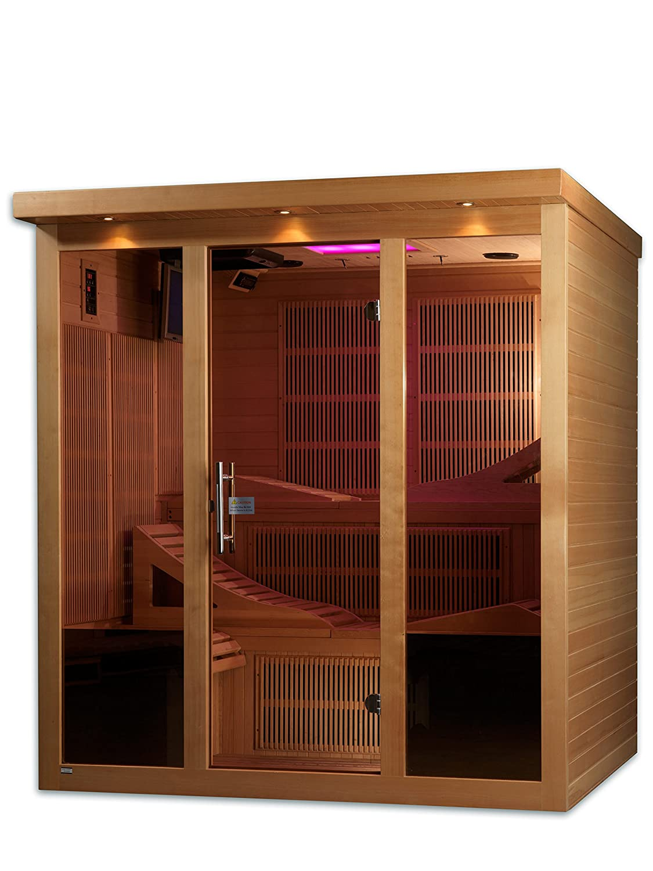 amazoncom dynamic saunas monaco 6person far infrared sauna patio lawn u0026 garden - Infared Sauna