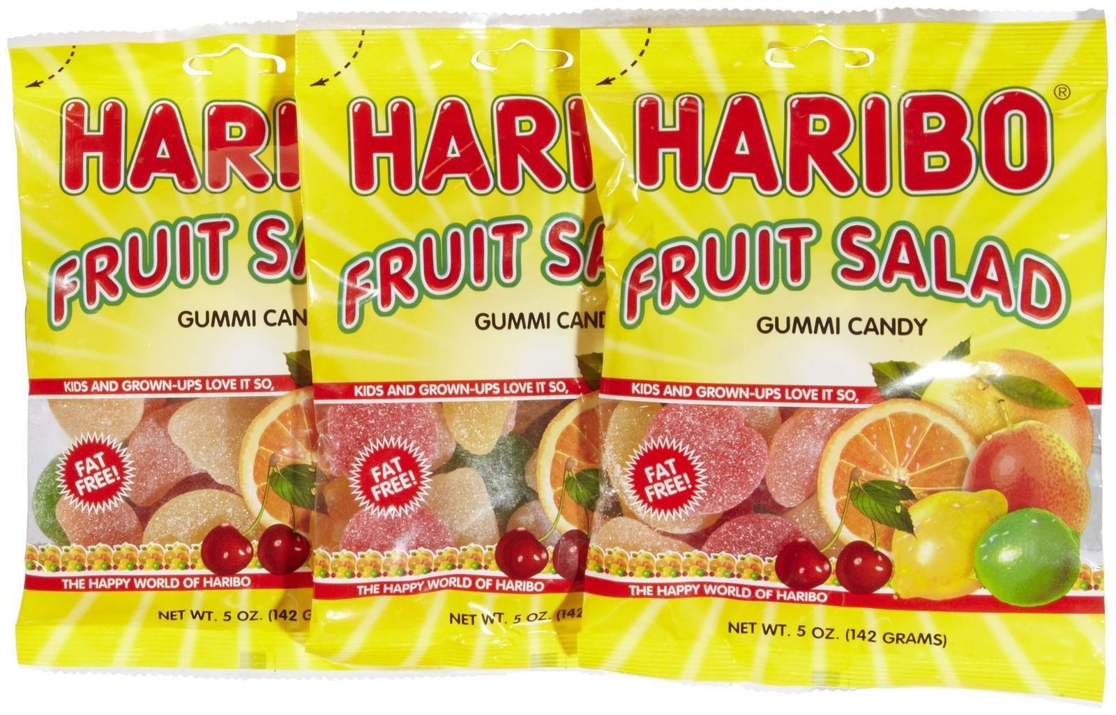 Haribo Gummi Fruit Salad 5 oz. - 3 packs