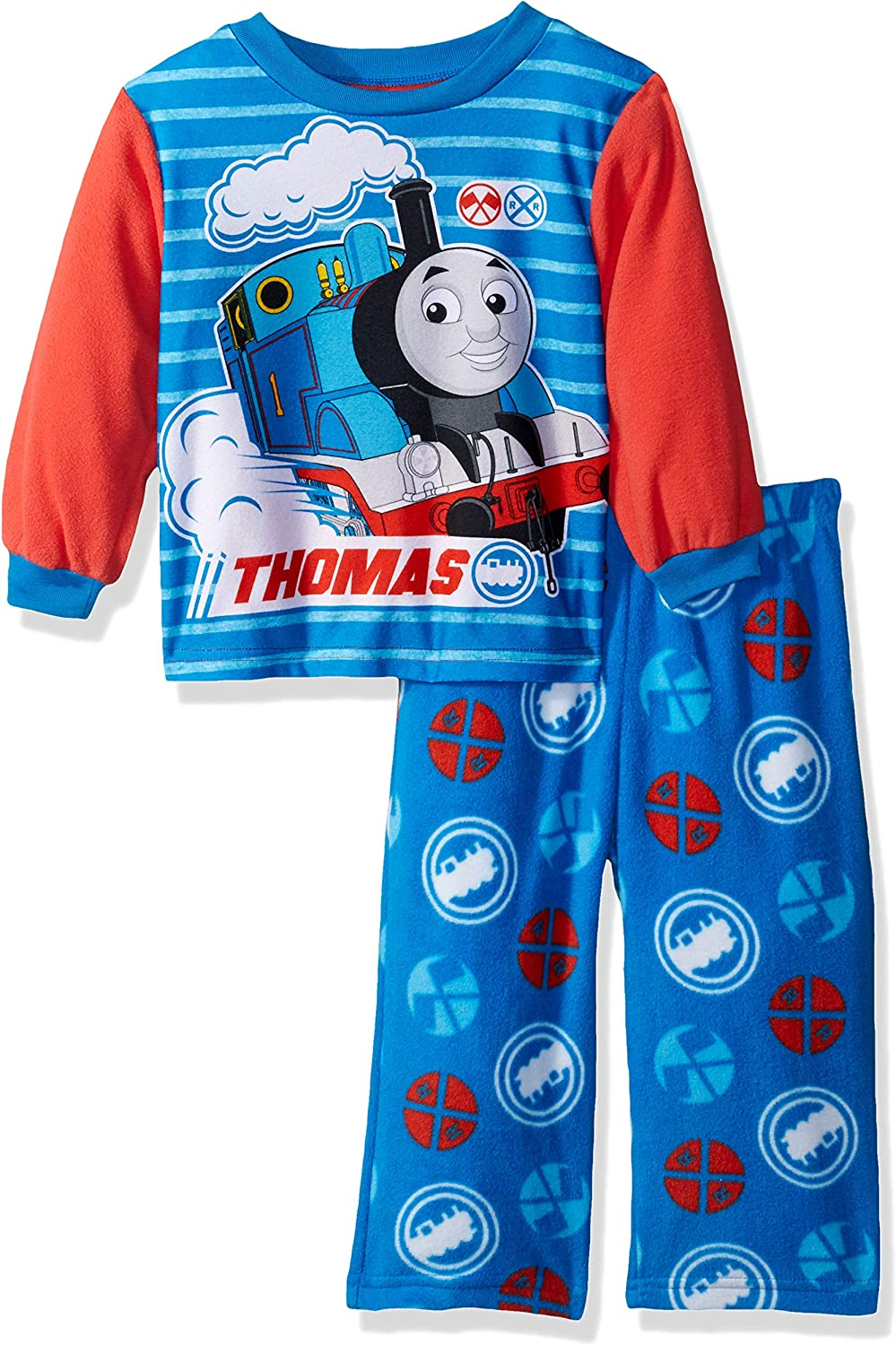 Thomas & Friends Thomas The Train Baby Boys 2-Piece Fleece Pajama Set, no. Blue