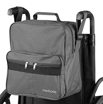 Medipaq Deluxe - Bolsa para silla de ruedas - se fija a las asas para Providie almacenamiento útil y conveniente: Amazon.es: Salud y cuidado personal