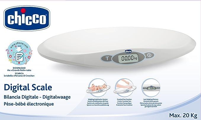 Chicco - Báscula digital para bebés con estabilizador de peso