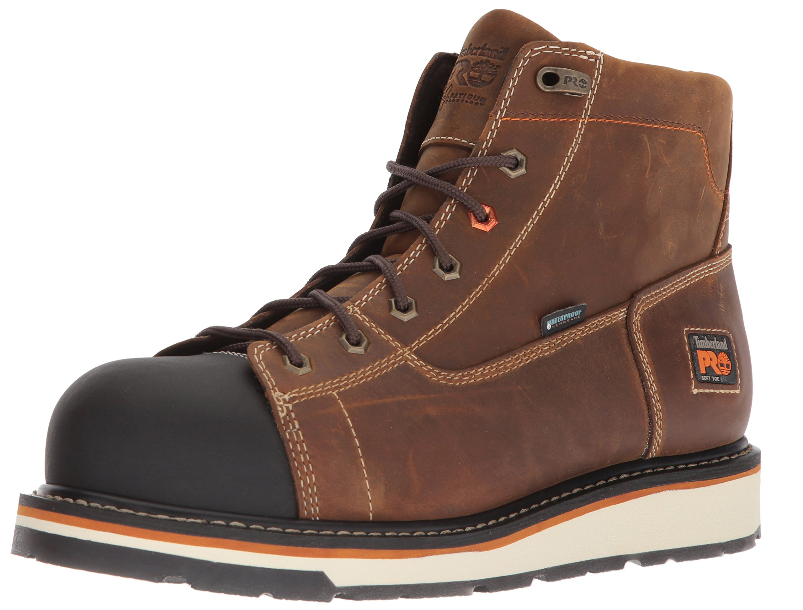 Timberland PRO Men's Gridworks Soft Toe Waterproof Industrial Boot, Brown, 10 W US