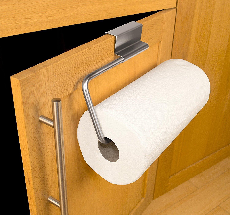 Amazon.com: Fubarbar Over the Cabinet Door Paper Towel Roll Holder ...