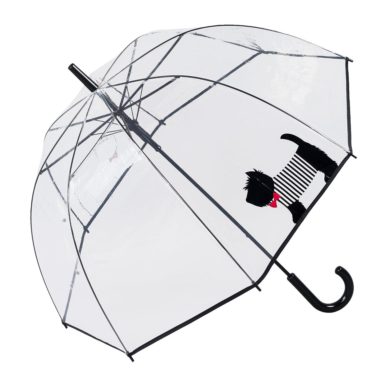 Susino Chien Mignon Parapluie Canne Automatique, 83 cm, 81 L, Transparent SUSINOEXT17010CUTEDOG