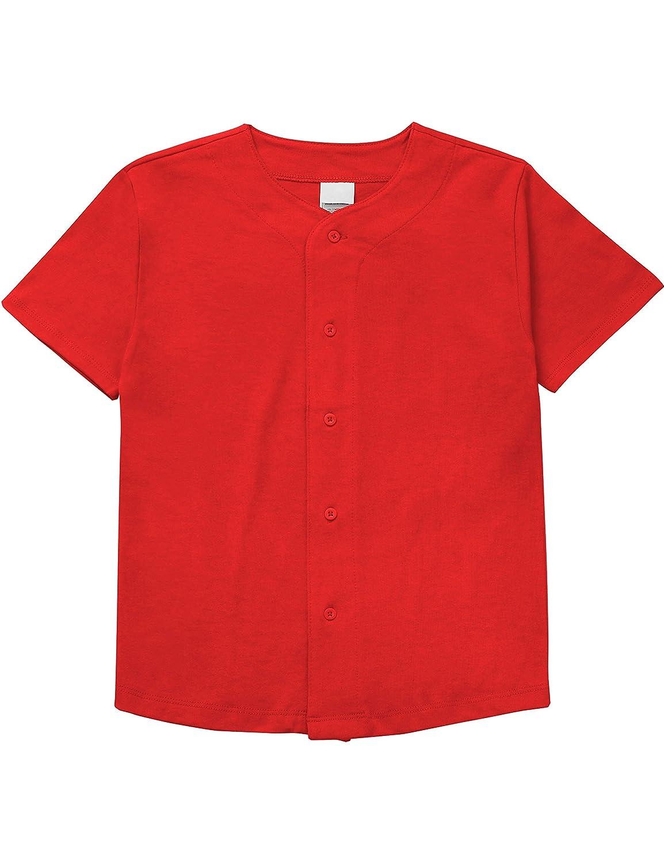 メンズ ベースボール ボタンタウン ジャージ ヒップスター ヒップホップ Tシャツ 1UPA01 B071D9BY18 XX-Small|Kid_red Kid_red XX-Small