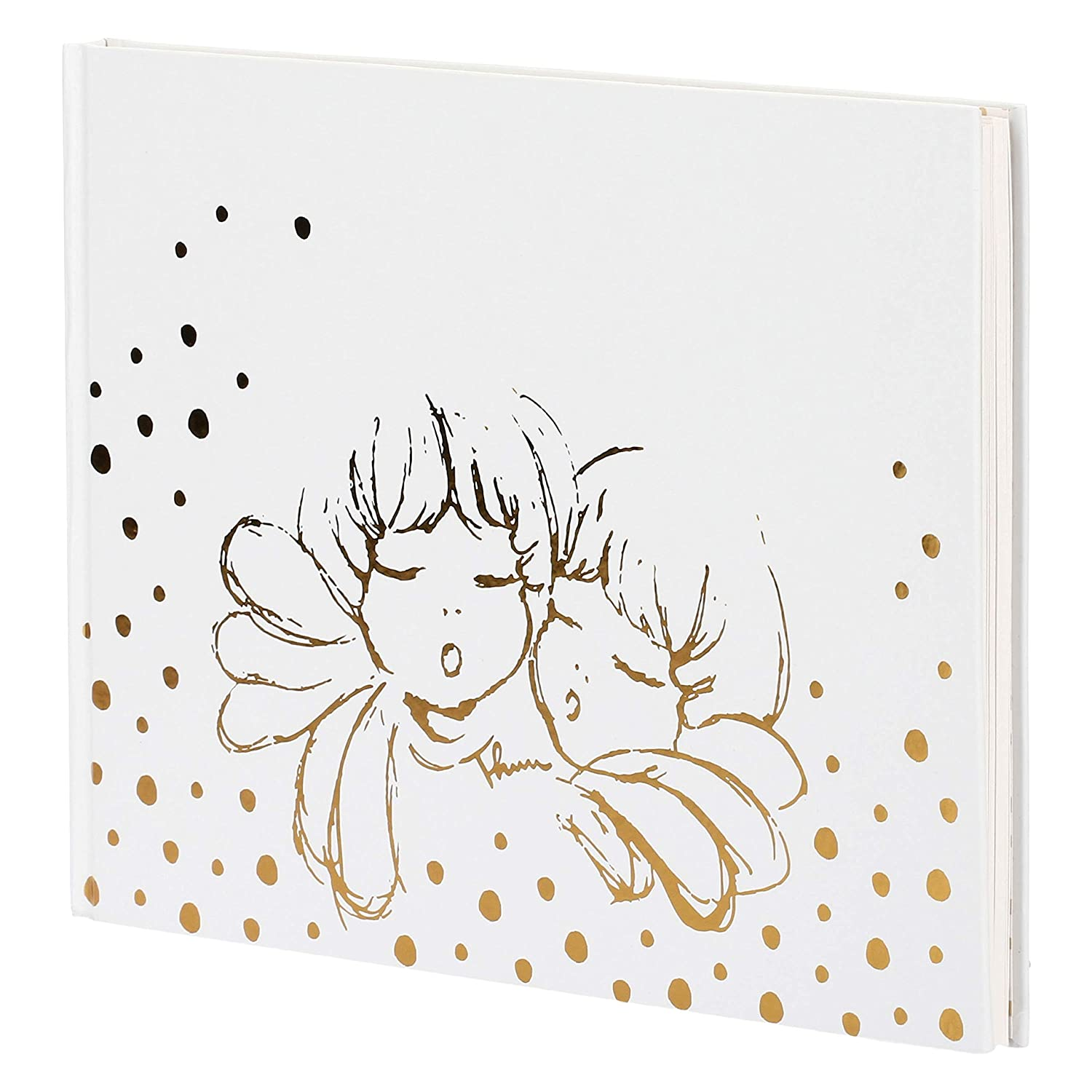 THUN ® - Album - quaderno dei ricordi - Linea Angel Gold - con Stickers Ferma Foto - Carta - 30 x 21,5 cm