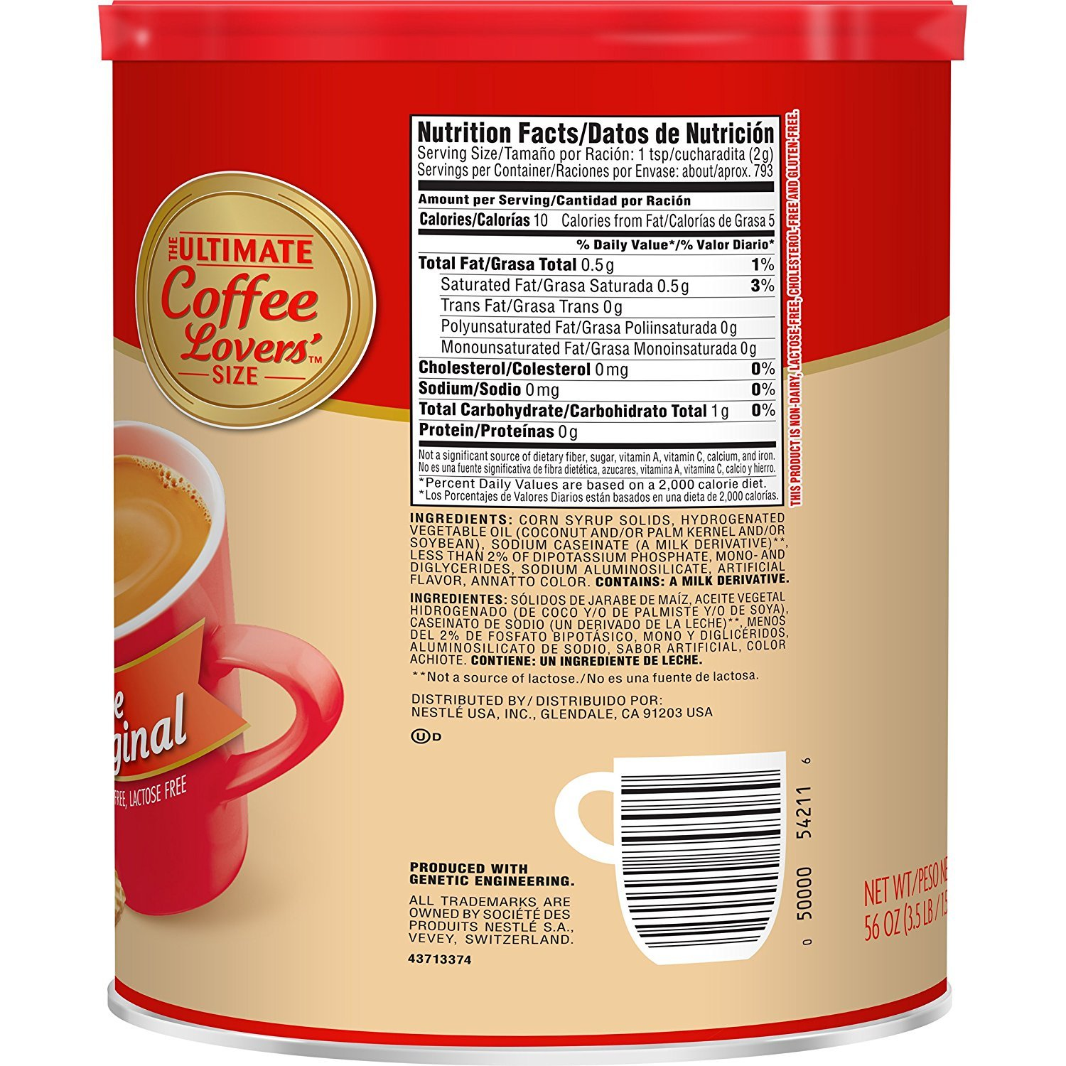 Nestle Coffee-mate Coffee Creamer 56oz. Canister (6 Pack) by Nestle (Image #3)