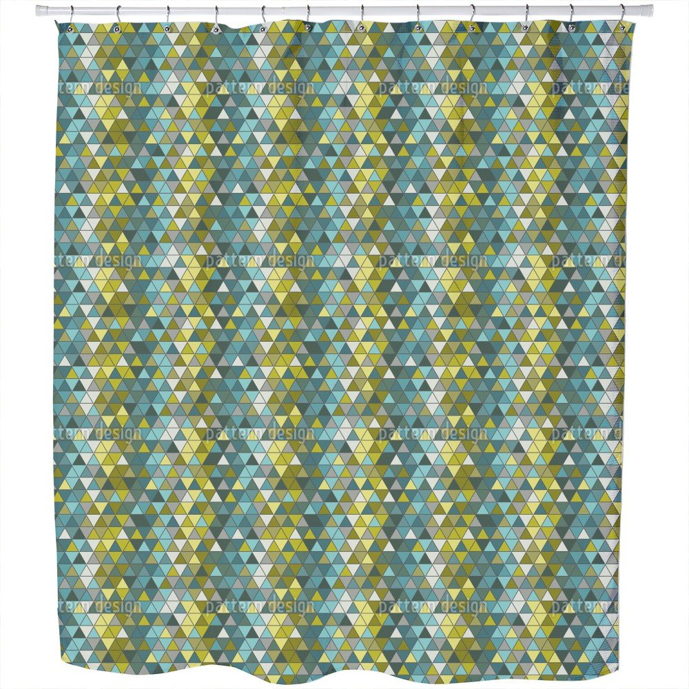 Uneekee The Sea Side Of The Glass Window Shower Curtain: Large Waterproof Luxurious Bathroom Design Woven Fabric