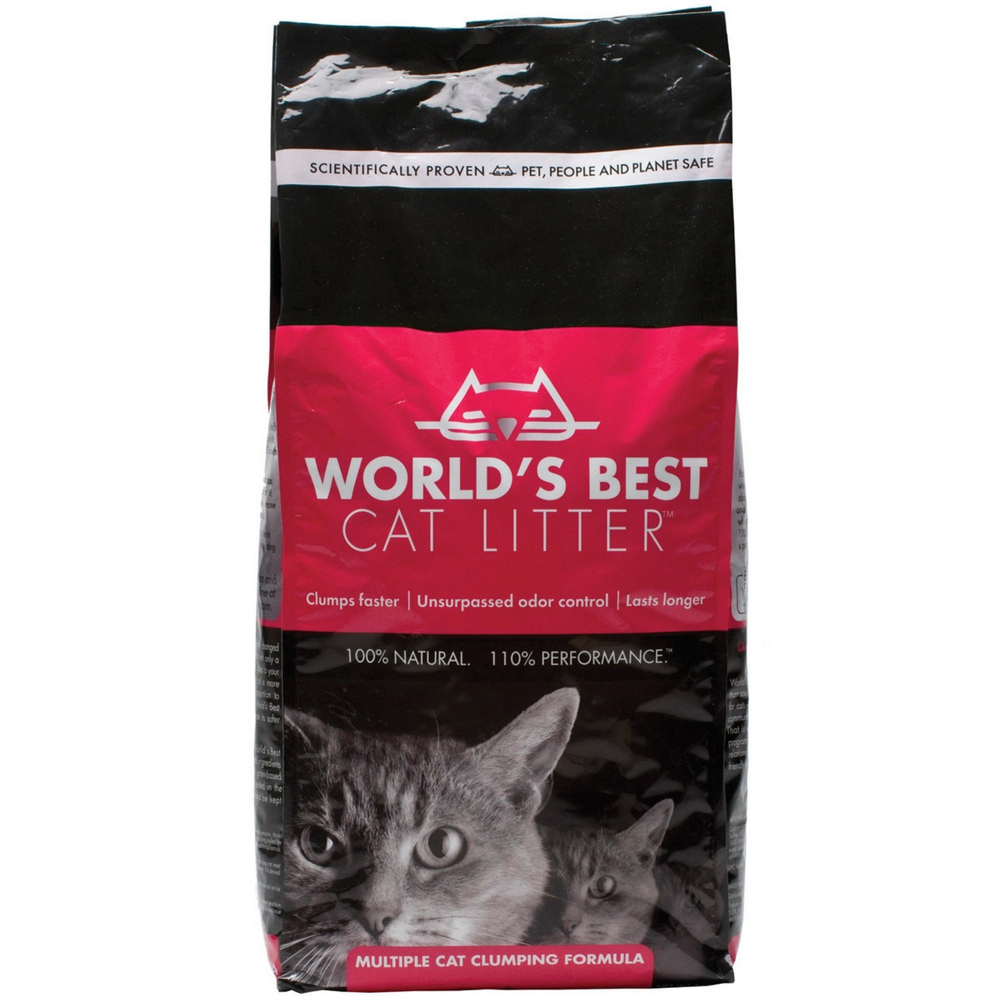 MPM Products Worlds Best Cat Litter Multiple Cat Clumping Formula (14lbs) (Multicolored)