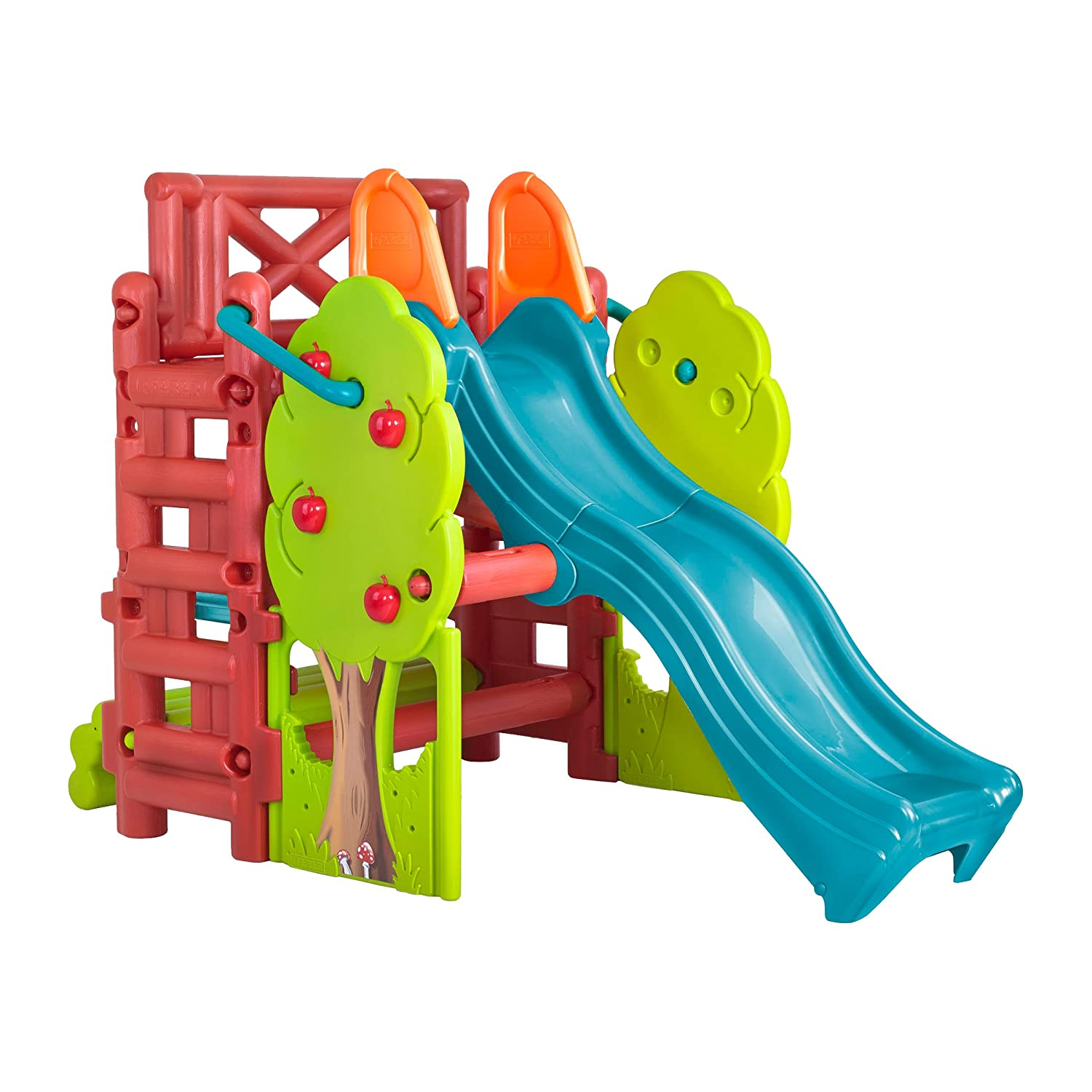 Amazon ECR4Kids Tree Top Climb and Slide Play Structure