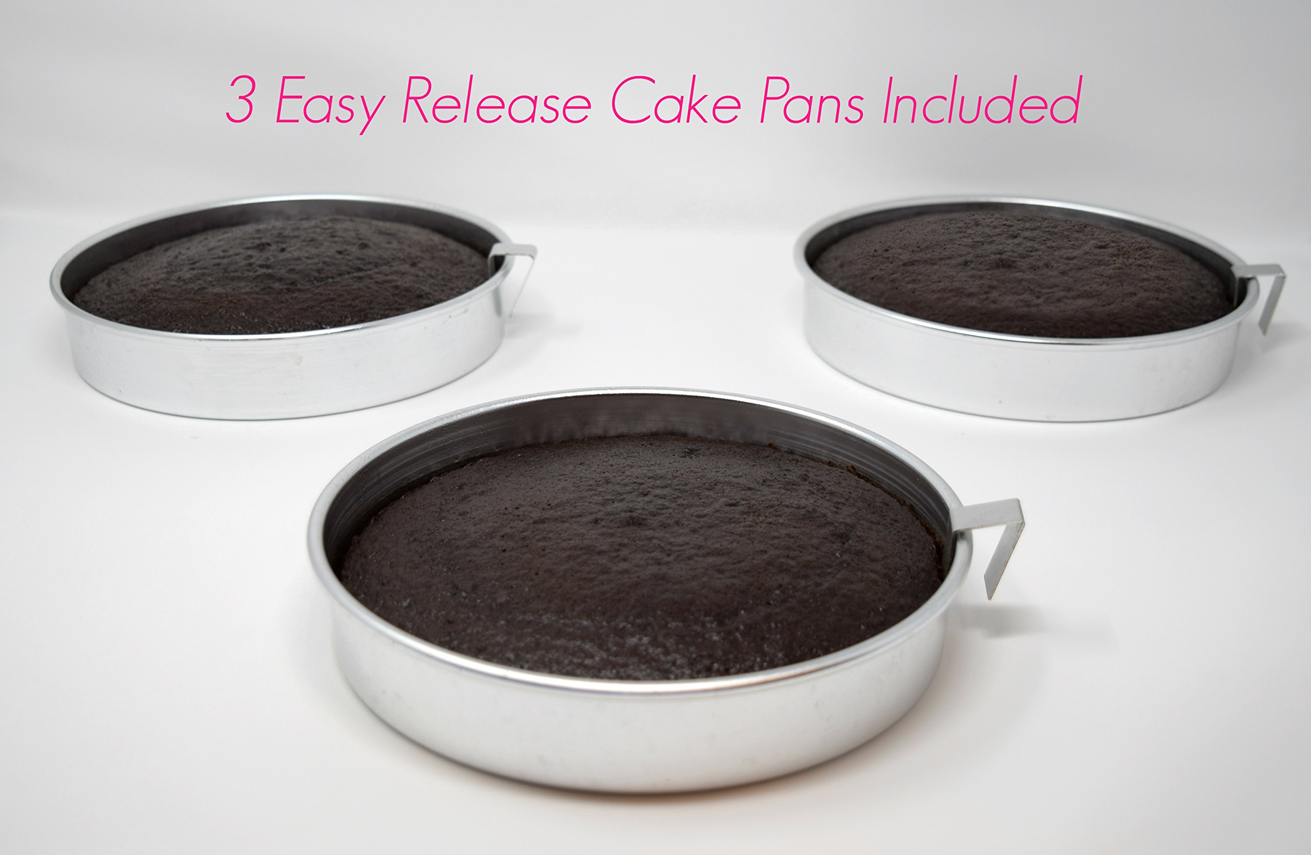 Aunt Shannon's Easy Release 8'' Cake Pans - Set of 3 Quick Release Pans for Easy Cake Removal Every Time by Aunt Shannon's Kitchen (Image #6)