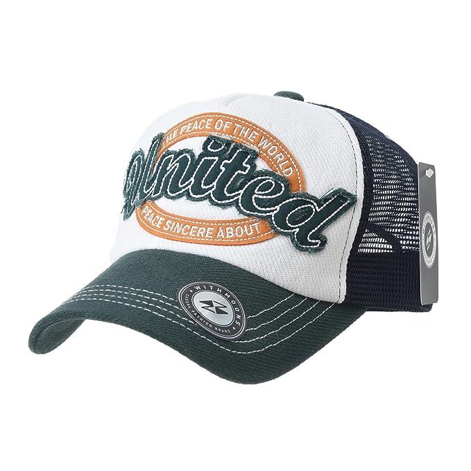 WITHMOONS Gorras de béisbol Gorra de Trucker Sombrero de Baseball Cap Vintage Meshed Distressed Trucker Hat KR1961 (Green): Amazon.es: Ropa y accesorios