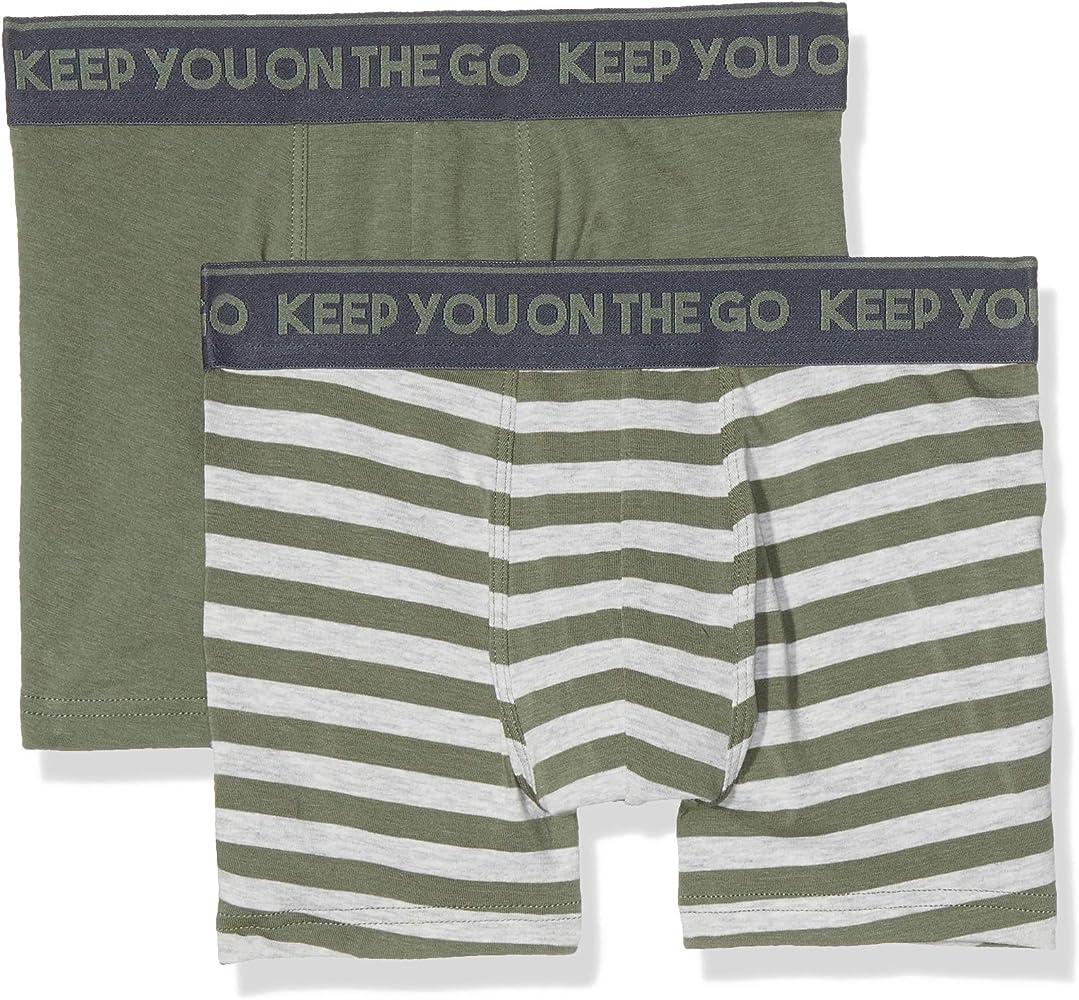 Sanetta Shorts de Adolescente (X Pack 2 - Verde (Castor Gris 4986), 140: Amazon.es: Ropa y accesorios