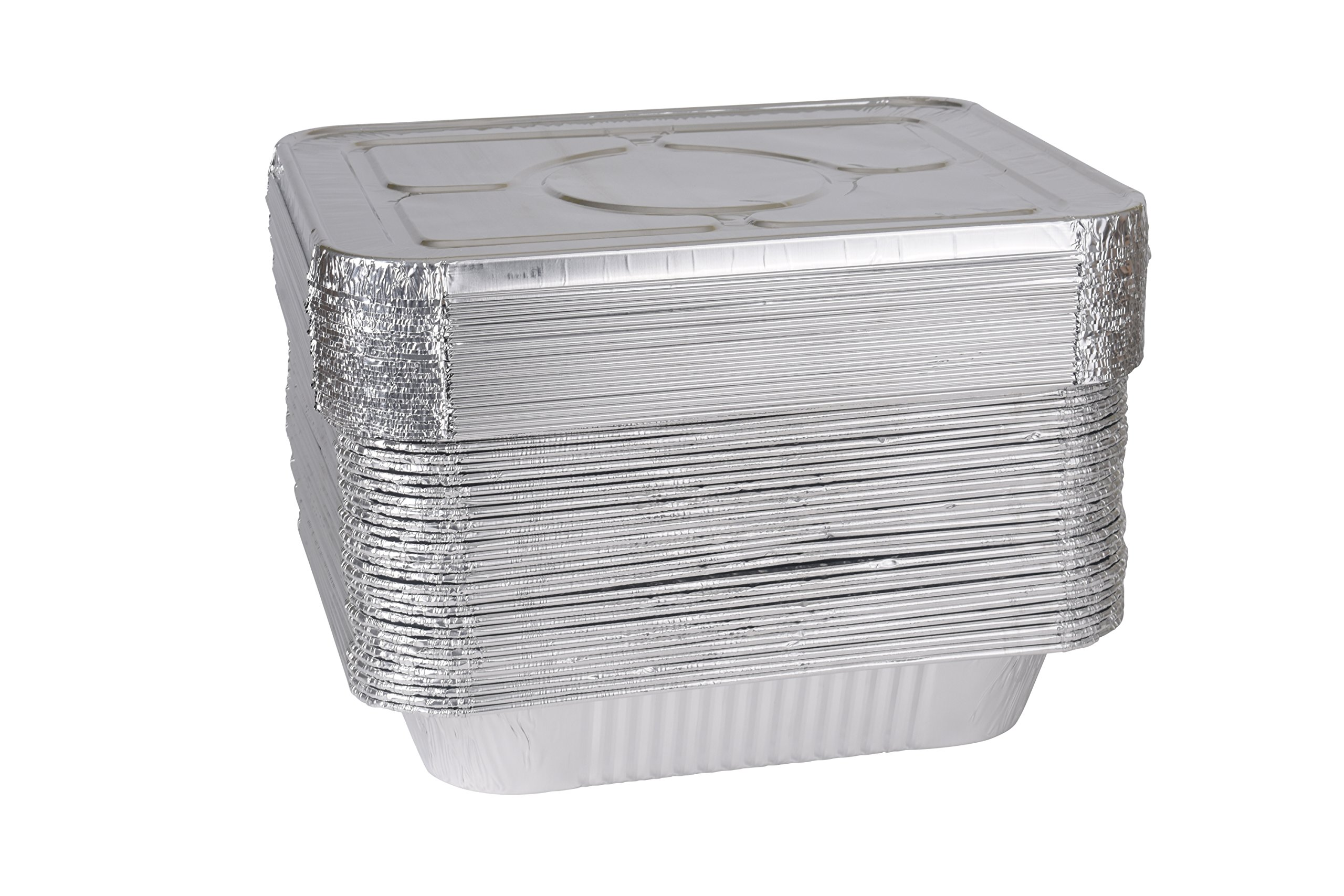 A World of Deals 9 X 13 Half Size Deep Foil Steam Pans with Lids, 30 Pack by A World Of Deals (Image #6)