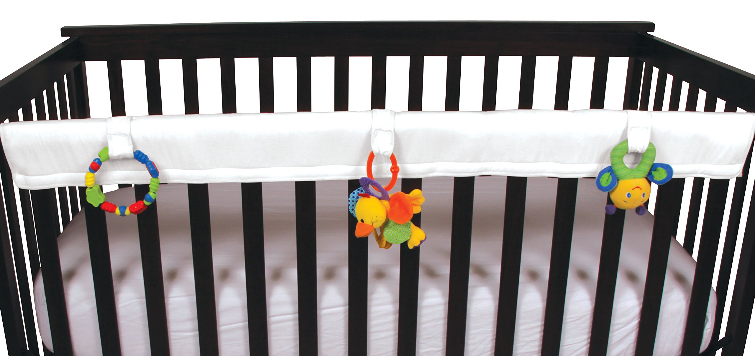 Leachco Easy Teether - Crib Rail Cover for cribs with THINNER railing (circumference of 7.5'' or less) - White