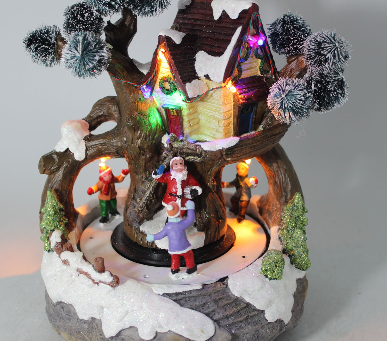 Umart Xmas Snow / Tree House Children Rotating Music Led Light