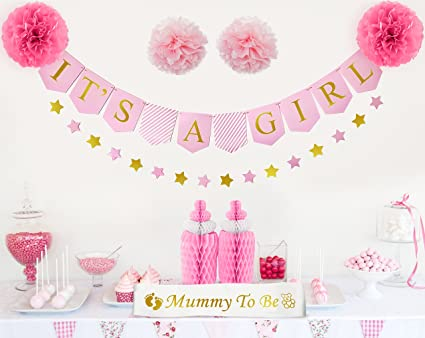 amazon com baby shower decorations for girl it s a girl banner