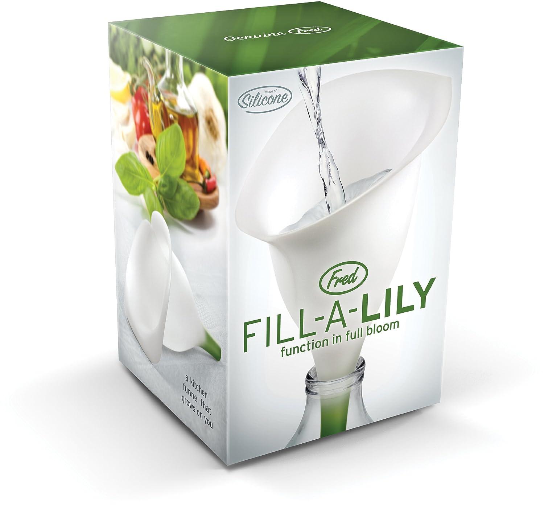 Fred Fill-a-Lily Embudo Caucho Silicona Color blanco