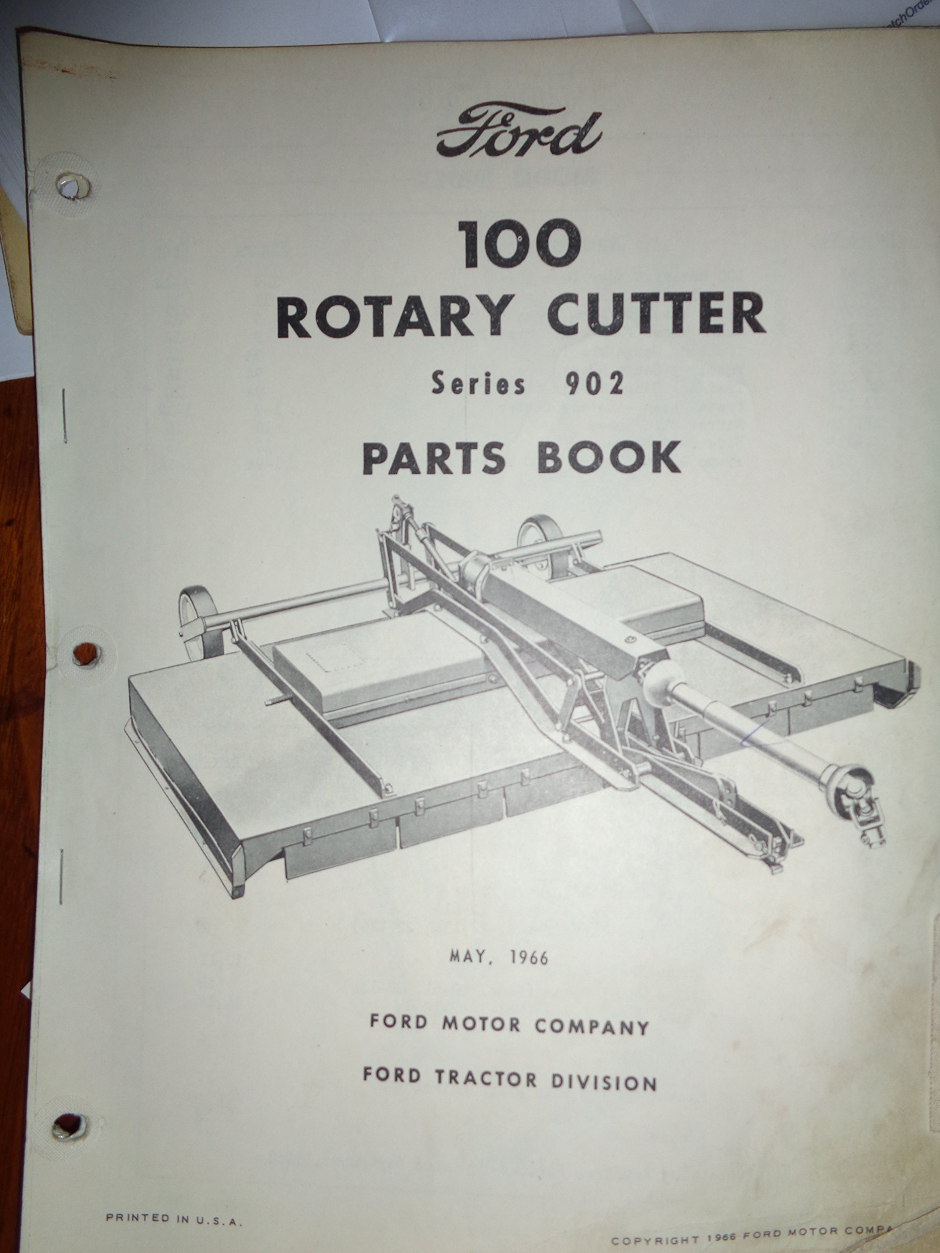 Ford Series 902 100 Rotary Cutter Mower Parts Catalog Book Manual 5 Tractor Schematics 66 Original Books