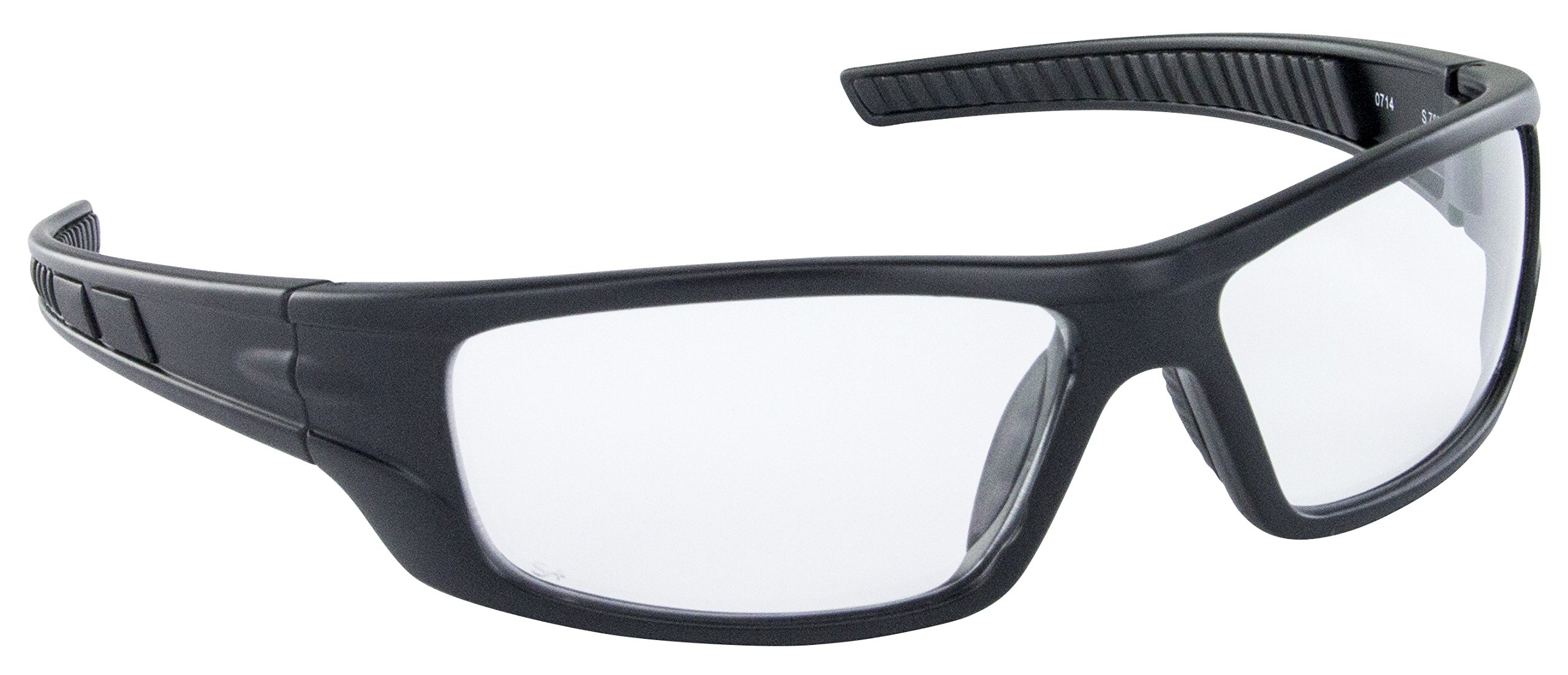 SAS Safety 5510-01 VX9 High-Impact Polycarbonate Lens Safety Glasses with Clear Lens, Black