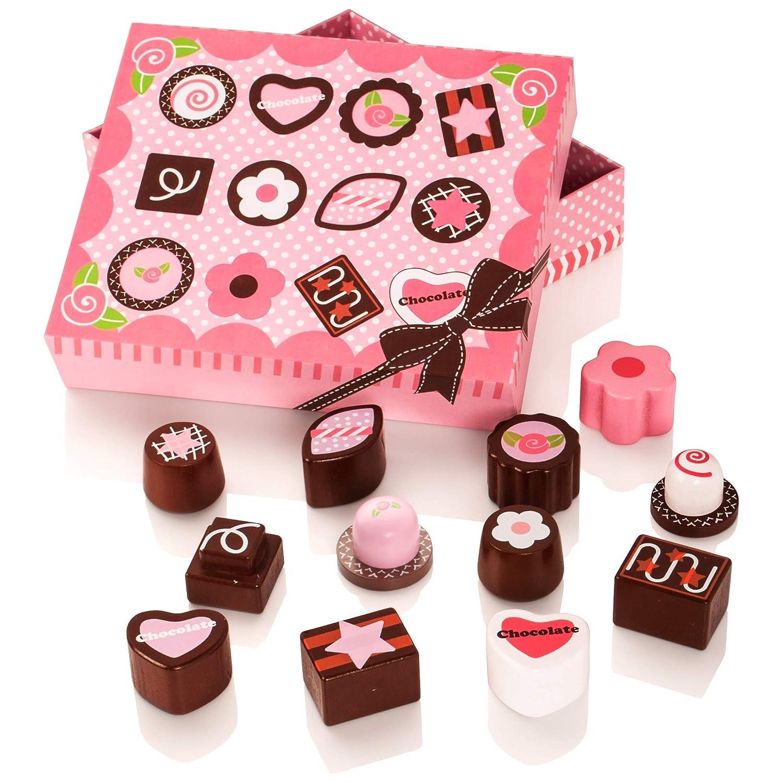 Milly & Ted Wooden Chocolate Box - Jeu de Nourriture pour Enfants