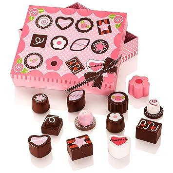 Milly & Ted Caja de Chocolate de Madera Juego de Cocina para niños