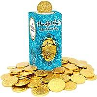 Hanukkah Chocolate Gelt - Nut-Free - Belgian Milk Chocolate Coins - 1LB - Over 100 Coins - OU D Kosher Chanukah Gelt