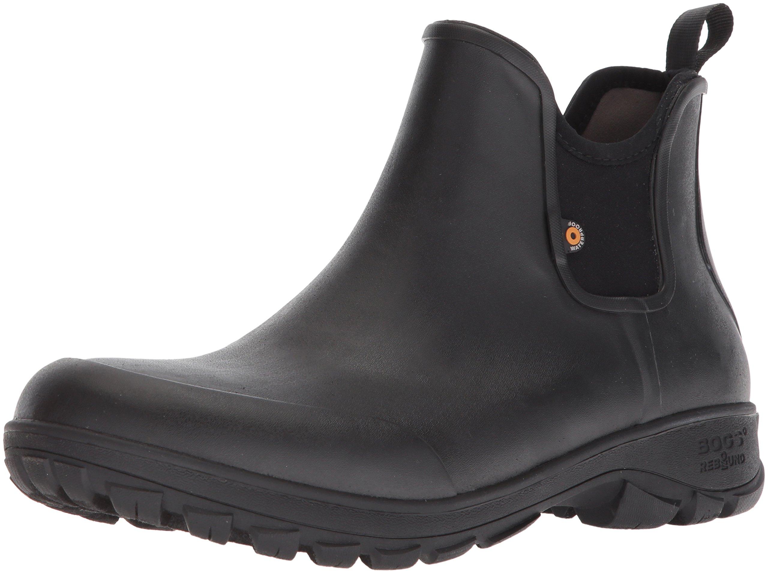 Bogs Men's Sauvie Slip Chukka Boot, Black, 10 D(M) US