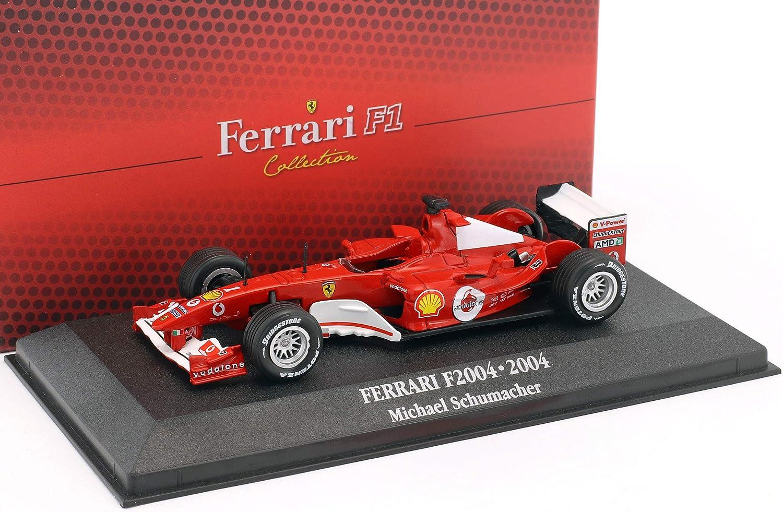 Atlas Michael Schumacher Ferrari F2004 1 Weltmeister F1 2004 Mit Vitrine 1 43 Amazon De Spielzeug