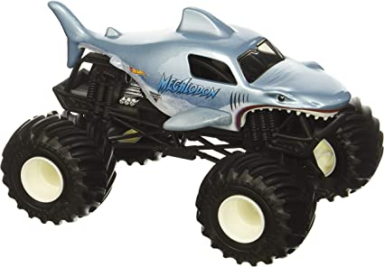 Amazon Com Hot Wheels Monster Jammegalodon Vehicle Toys Games