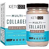 Chocolate Collagen Keto Protein Powder - High Quality Multi Collagen Keto Powder with MCT Oil Powder - Keto Collagen Protein Powder - Keto Chocolate Shake - Paleo & Gluten Free - Glass Bottle