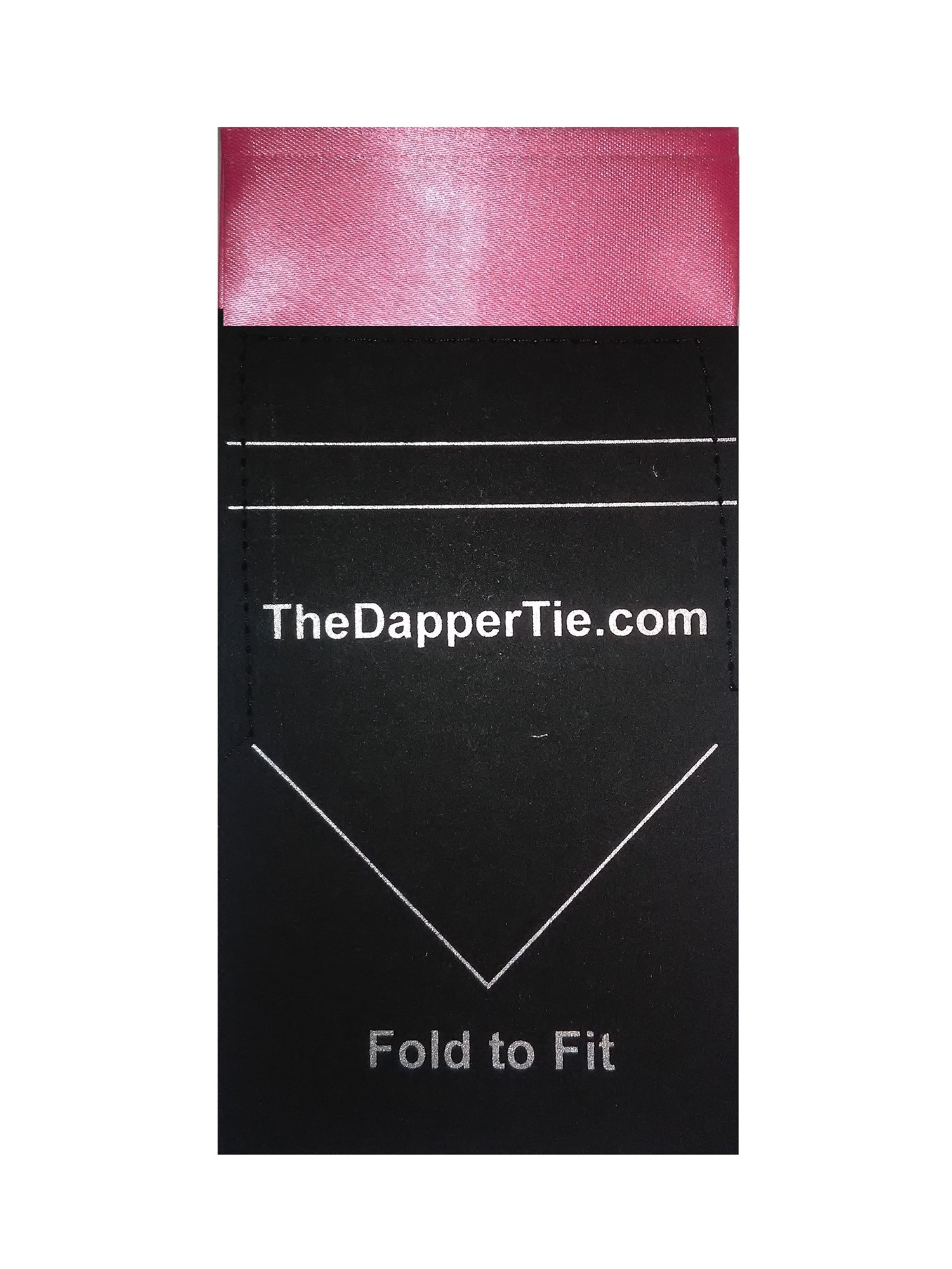 Men's Solid Flat Double Toned Pre Folded Pocket Square on Card - Bubble Gum Pink
