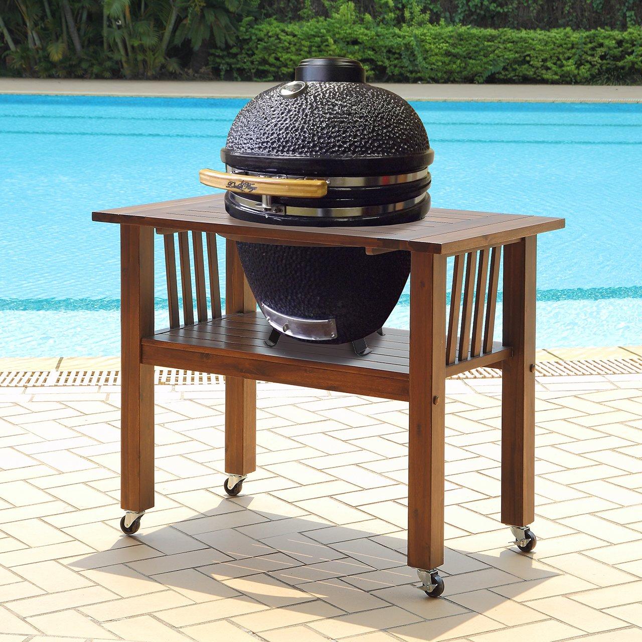 Amazon.com : Duluth Forge Kamado Ceramic Egg Smoker Grill With Table    Medium Model : Garden U0026 Outdoor
