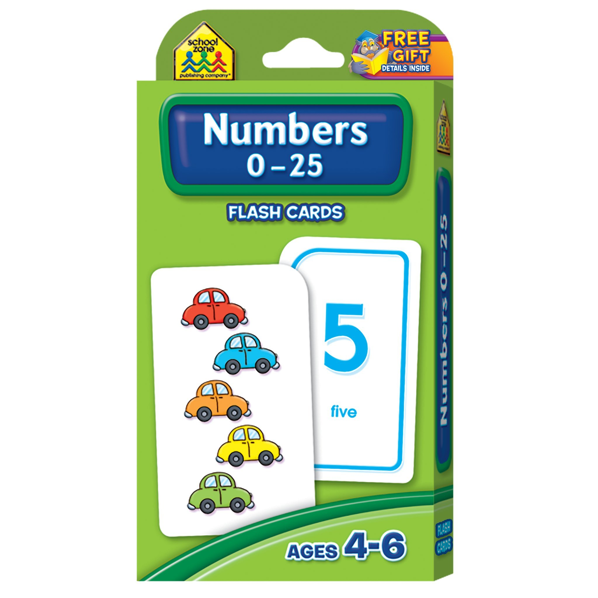 Numbers Flash Cards For Toddlers Kids Child Learning Preschool 0-25 ...