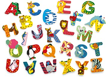 Amazon.com: INDIGOS UG   Wood letter   R   for children and babies