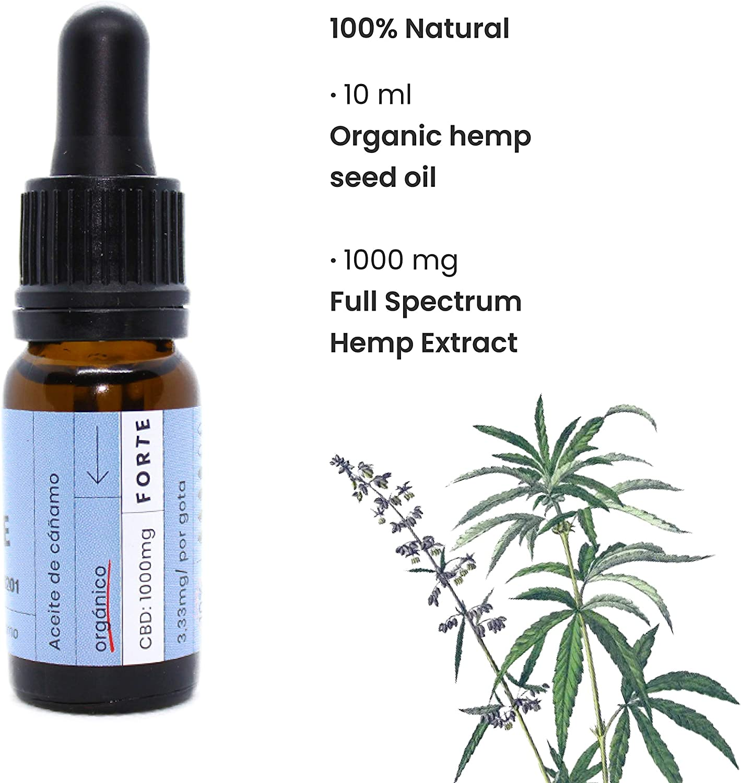 Beemine Aceite de Cáñamo Orgánico 300 mg (3%) Espectro Completo ...