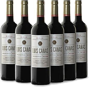 Luis Cañas Reserva Vino Tinto Caja Cartón 6 x 0.75 L: Amazon.es: Alimentación y bebidas