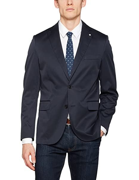 Gant O1. The Cotton Twill Blazer C, Chaqueta para Hombre, Azul (Navy