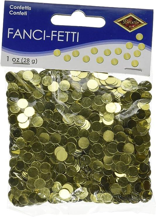 Beistle 50620-GD Dots Confetti Konfetti plastik gold