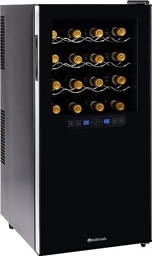 Wine-Enthusiast-Silent-32-Bottle-Wine-Refrigerator-Freestanding-Touchscreen-Dual-Zone-Wine-Cooler