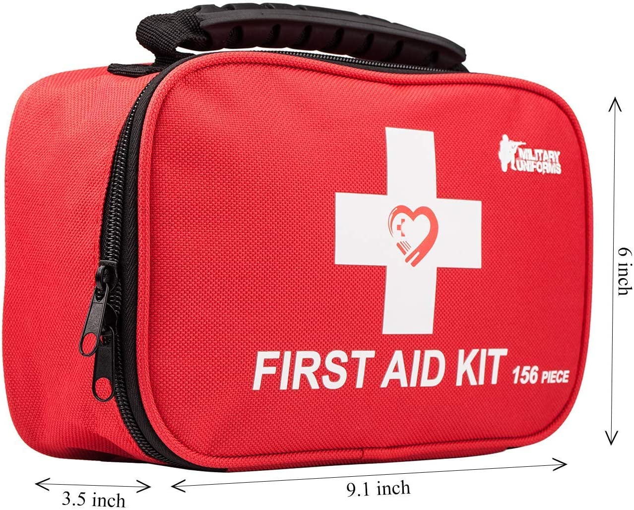 First aid kit, All-Purpose aid kit and Compact Emergency kit First aid for Office, aid Kit Medical for Outdoors, Hiking First aid kit and Camping Emergency kit (Red) : Sports & Outdoors