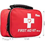 First aid kit,All-Purpose aid kit and Compact Emergency kit First aid for Office,aid Kit Medical for Outdoors,Hiking First ai