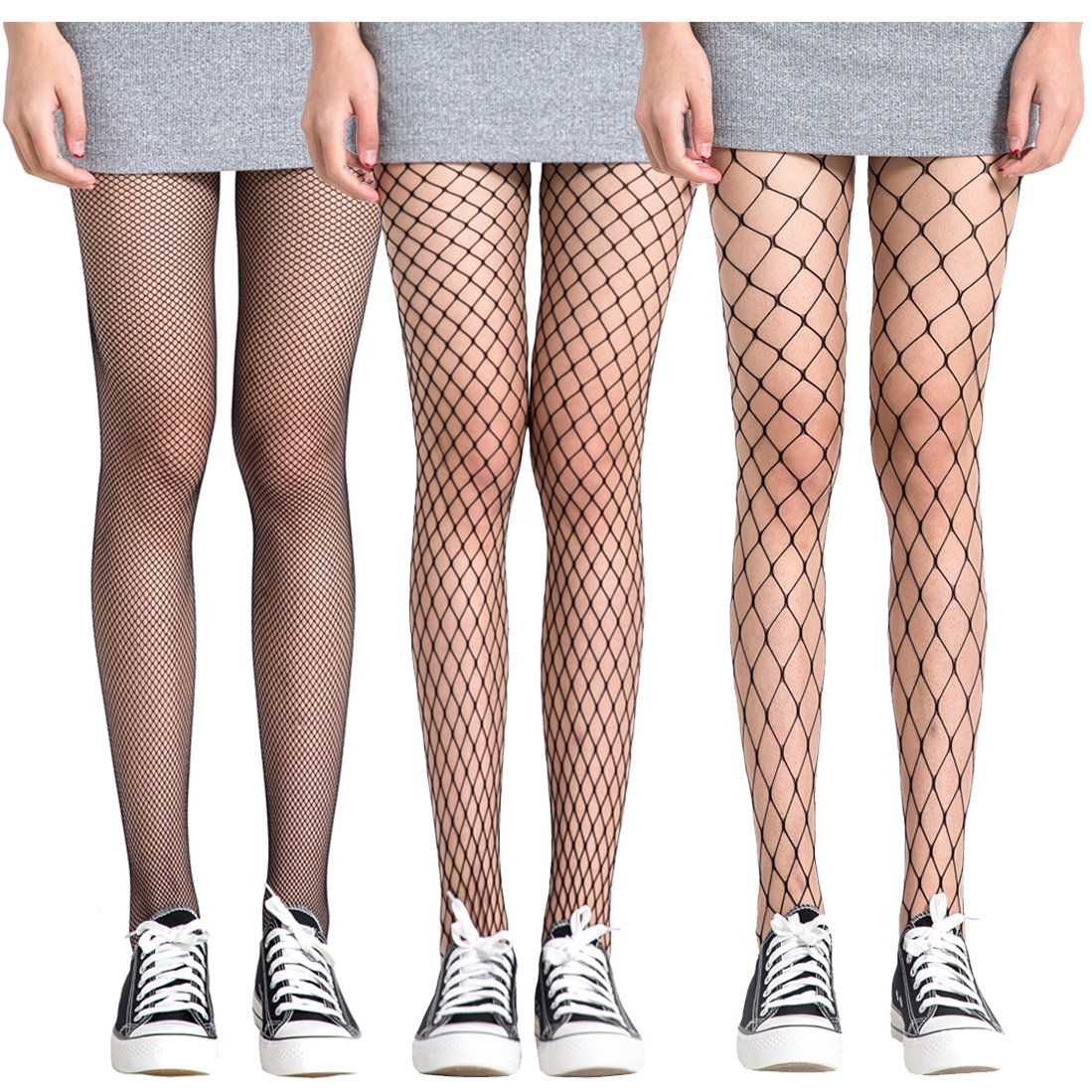 3bd5eb68d4fd8c FAYBOX 3 Pack Fishnet Stockings Hollow Stretchy Tights Seamless Sexy Net  Pantyhose Women (Net Design) at Amazon Women's Clothing store: