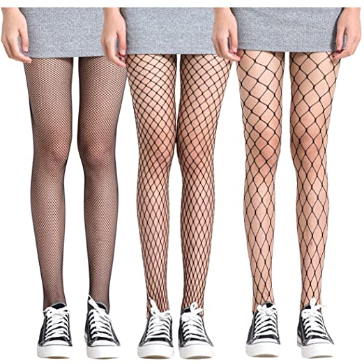 9b194def9 FAYBOX 3 Pack Fishnet Stockings Hollow Stretchy Tights Seamless Sexy Net Pantyhose  Women (Net Design
