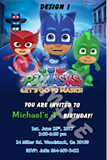 Pj Masks Personalized Birthday Invitations More Designs Inside!