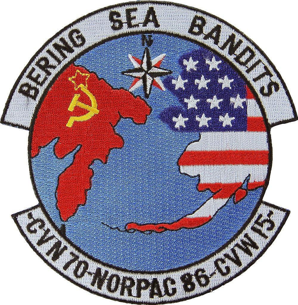 USS Carl Vinson CVN-70 CVW-15 NORPAC 1986 Bering Sea Bandits Patch Full Color