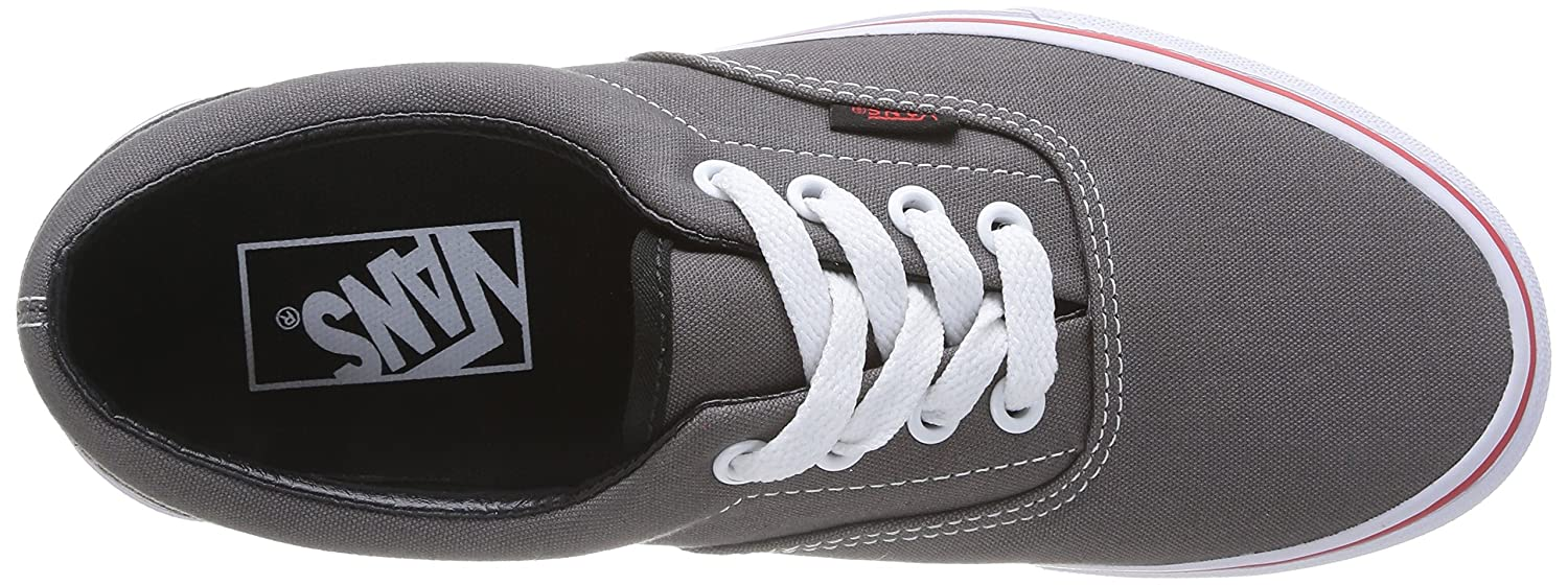 Vans Unisex Era Skate Shoes, Classic Low-Top Lace-up Canvas Style in Durable Double-Stitched Canvas Lace-up and Original Waffle Outsole B00L4NFDFY Men's 4.5, Women's 6 Medium|(Pop) Gargoyle/Mars Red ff6ddb